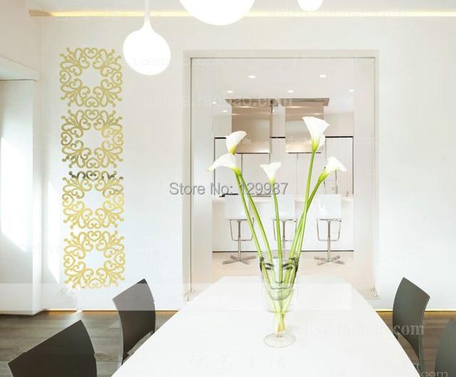 Europese stijl spiegel muursticker zitkamer slaapkamer decoratie