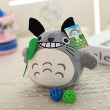 small cute Totoro plush toy gift the Lotus leaf  totoro doll laughing doll about 19cm
