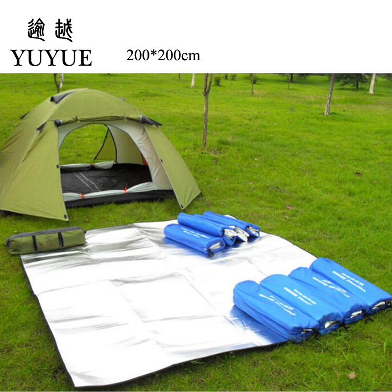 200*200cm Double-sided Aluminum Film Moistureproof Mat Tavel Mat For Tourist Camping Tent Beach Blanket Mat Camping Equipment  3