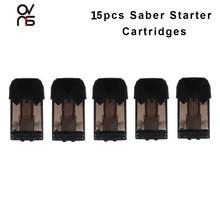15 шт., оригинальные стартовые картриджи Ovns Saber, аксессуары для электронной сигареты, 1,8 мл, распылитель Vape, Ом, электронная сигарета, испаритель