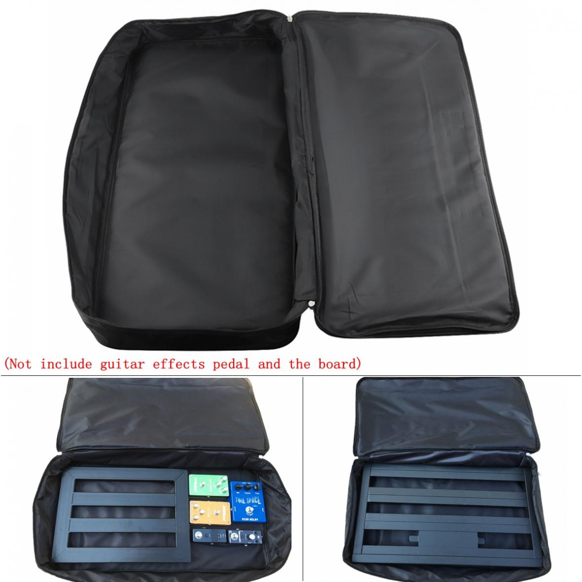 Image 3 - 60*33*10cm Black Universal Portable Guitar Effects Pedal Board Gig Bag Soft Case Big Style  DIY Guitar Pedalboard-in Guitar Parts & Accessories from Sports & Entertainment