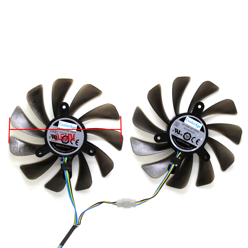New 95mm 4Pin Cooler Fan Replacement For ZOTAC Geforce GTX 1080 Ti GTX 1080Ti AMP Edition VGA Graphics Card Cooling Fan