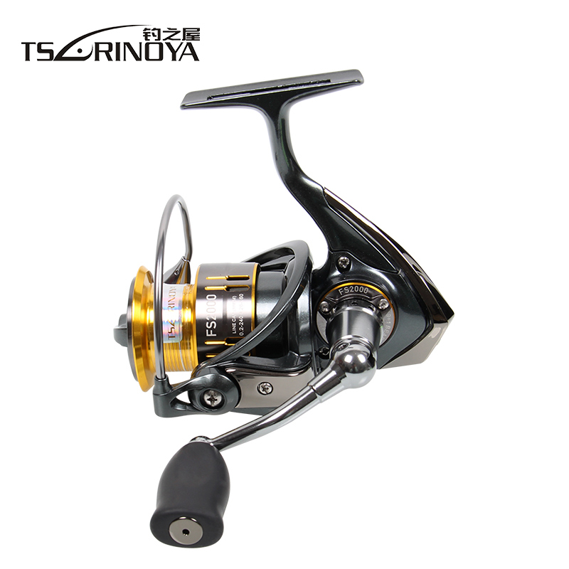 цена на TSURINOYA FS2000 Fishing Spinning Reel 9+1BB 5.2:1 Saltwater Spinning Fishing Reel Coil Metal Deep Spool Carretilha De Pesca
