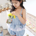Baby Girls Denim Overalls Summer Fashion New Style Children Clothing Casual Kids Pants Bow High Quality Girl Denim Jeans 2-10Y