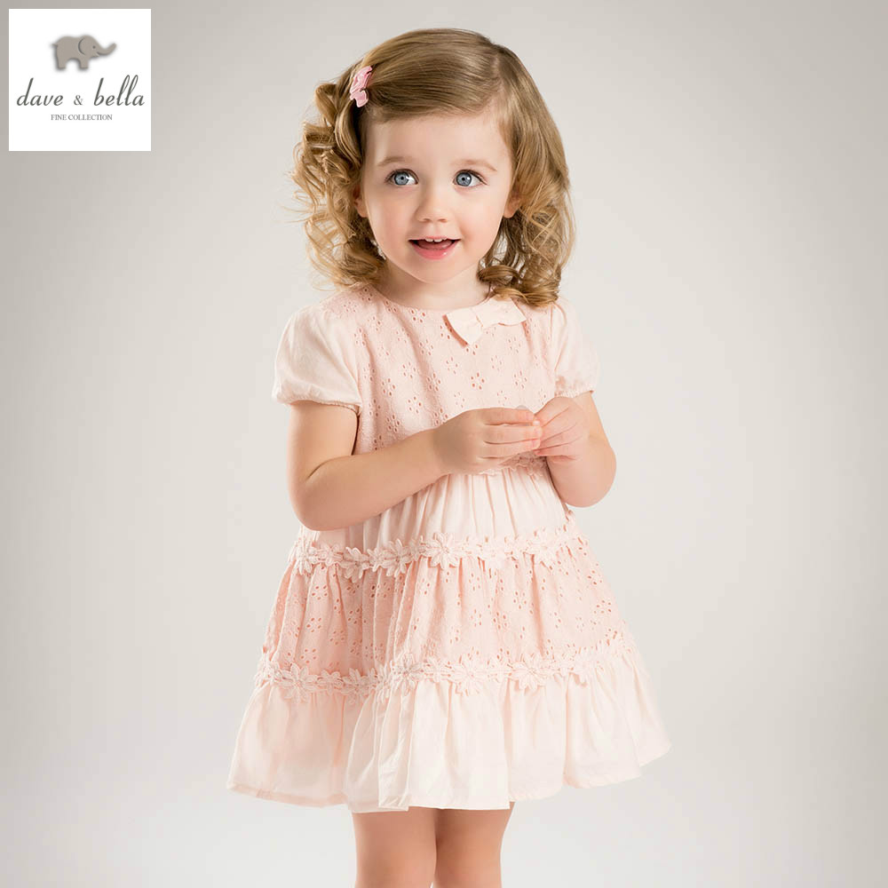 DBK0621 dave bella summer baby girl vintage style princess dress baby retro dress kids birthday clothes dress pink fancy dress db3943 dave bella autumn baby girl pink dress infant clothes girls lace dress baby lantern sleeve birthday dress