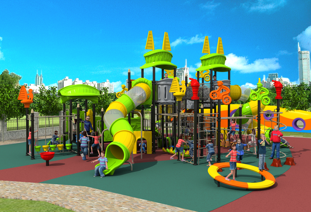 CE,ISO,TUV customized outdoor sport playground plastic slide structure kid climbing play equipment YLW OUT171053
