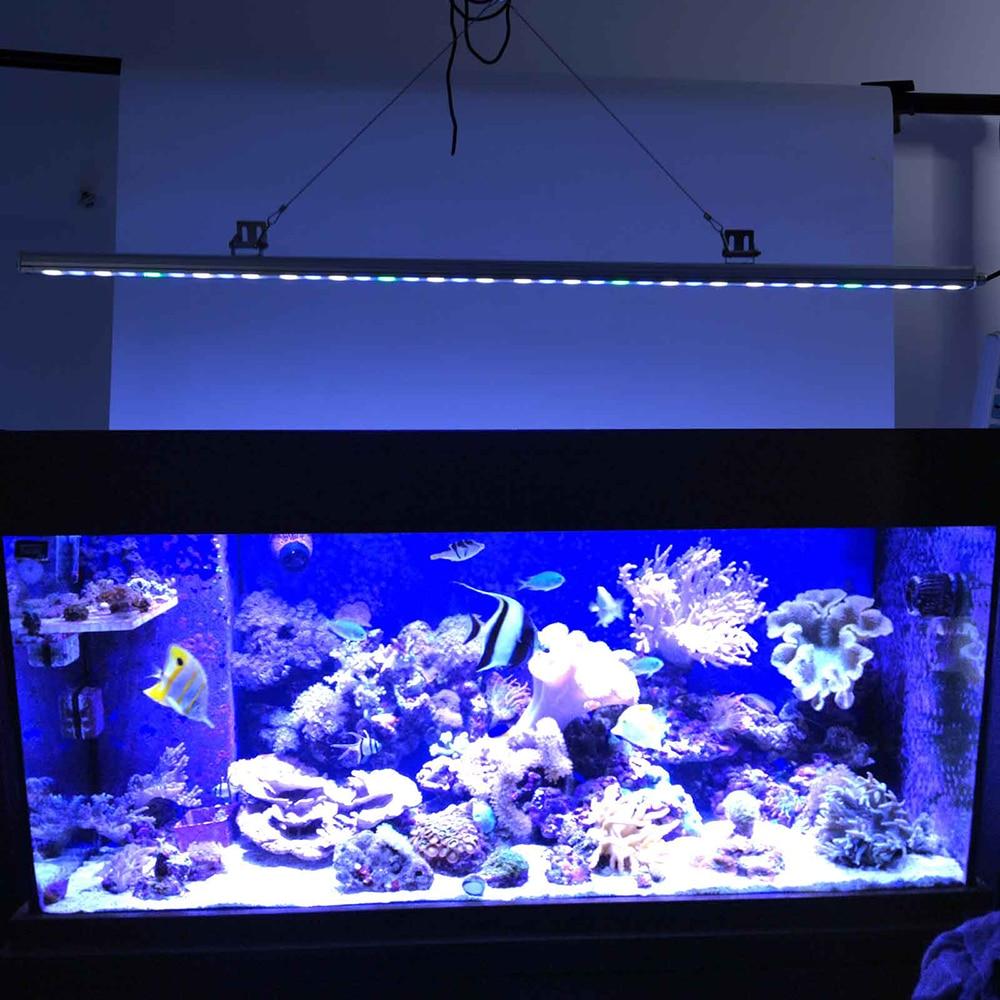 108w Fish tank Led Aquarium Light Strip Bar 36pcs White Blue Spectrum for Aquarium lamp reef coral Marine life realistic view 147w led aquarium lights ufo led aquarium light lamp coral reef saltwater marine fish tank with white blue color