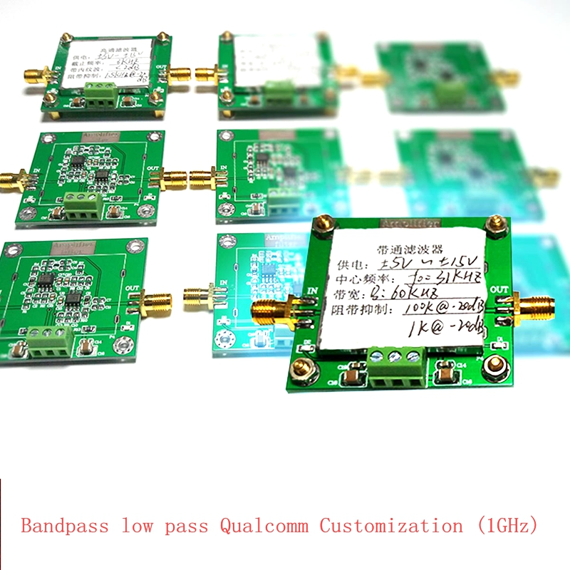 4th-order filter module Bandpass low-pass high-pass Custom filter circuit band Signal filtering below 1MHz band filter bandpass filter active