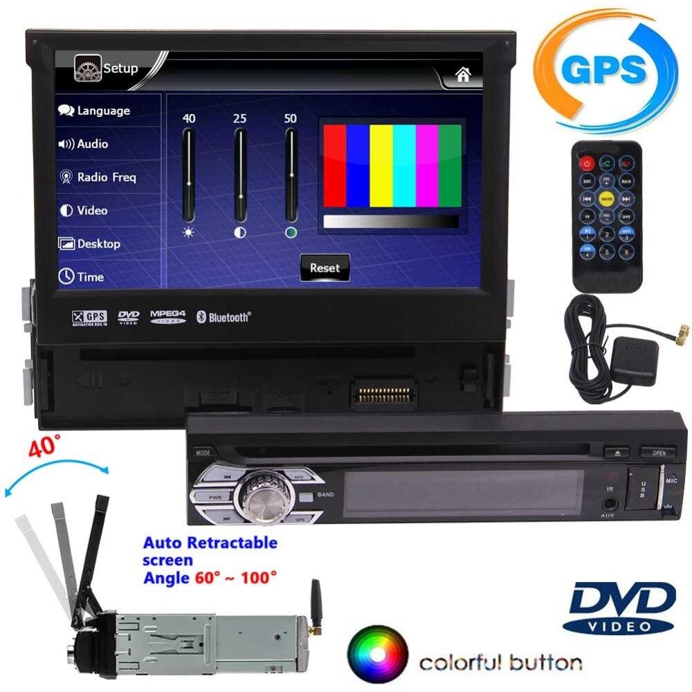 Lecteur Audio DVD bluetooth voiture 1din Navigation GPS stéréo dans la console centrale lecteur Radio prise en charge Audio SD iPod écran tactile USB