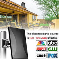 SATXTREM 318A HDTV Antenna Digital 160 Miles Range Outdoor/Indoor Signal Reception with Amplifier Booster 32.8ft cable Antenna