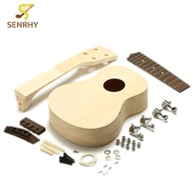 21 Inch DIY Unfinished Rosewood Ukulele With Ukulele Body Neck String Tunning Pegs String Musical Instruments For Music Lovers