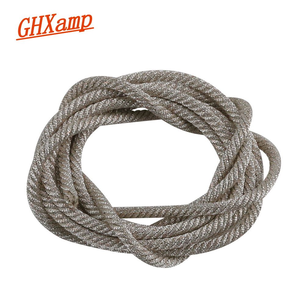 "GHXAMP 1M 48 Strand Subwoofer Speaker Lead Wire For 18"" 21"" 24"" Inch Sub Woofer PA Speaker Voice Coil Repair Silver Wire"