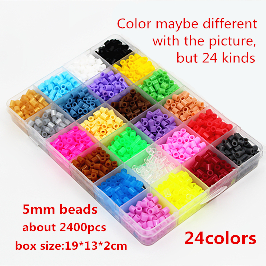 5mm 24 colour hama perler beads 2400pcs boxed set EVA kids children DIY handmaking fuse bead Intelligence Educational Toys Craft 5mm hama perler fuse beads 20 colours 4000pcs iron beads kids diy handmaking toys for children diy craft