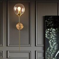 Nordic Vintage Metall Glas Wand Lampe Industrie Loft Schlafzimmer Nacht FÜHRTE Wand Licht Bad Hotel Aisle Korridor LED Wand Lampen
