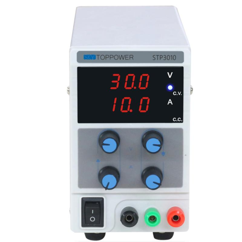 цена на 0-30V 0-10A Laboratory DC Power Supply Stabilizer with 3 Digital Display Variable Adjustable Lab Grade Mode AU Plug
