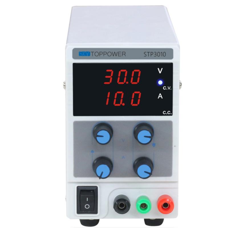 0-30 V 0-10A stabilisateur d'alimentation cc de laboratoire avec 3 affichage numérique prise de Mode AU de qualité de laboratoire réglable