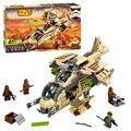 Jl moda de las galaxias wookiee cañonera juguetes de los ladrillos bloques juego game boy arma avión compatible con lepin decool 75084