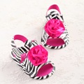 2016 Black White Brand Zebra Flower Summer Soft Bottom PU Leather Toddler Baby Moccasins Girls Indoor Baby Shoes Scarpe Neonata