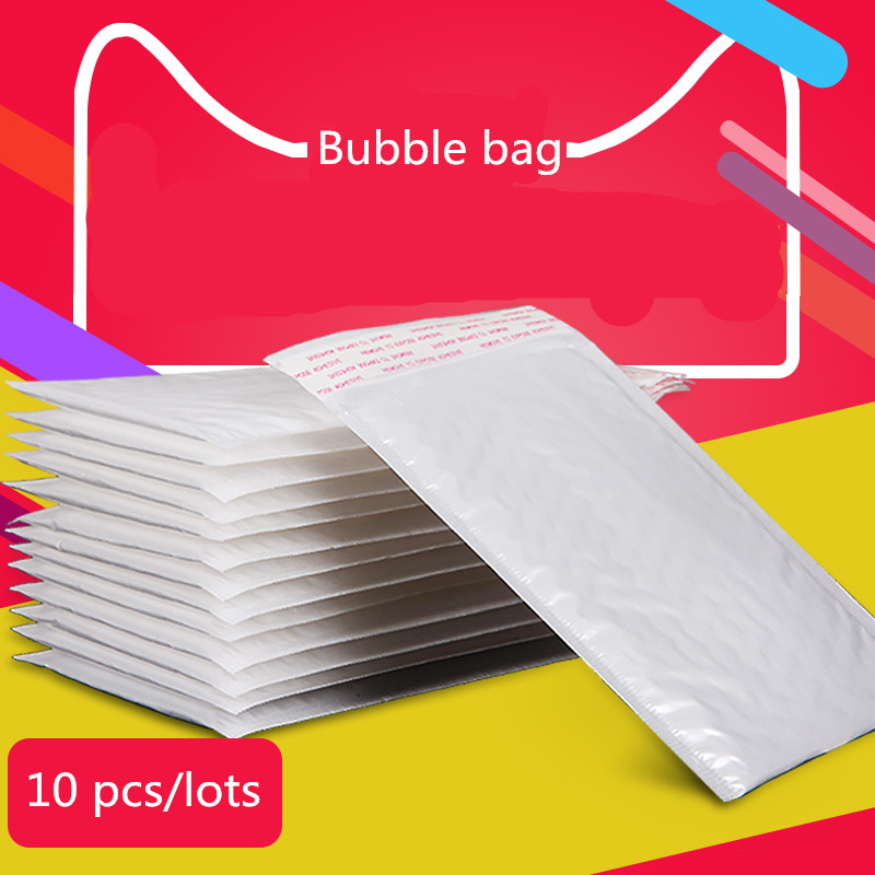 10 Pcs / Pack, 120*180mm Waterproof White Pearl Film Bubble Envelope Mailing Bags(China)