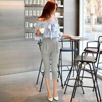 Original 2017 Brand Rompers Spring England Style Plus Size Slim Elegant Casual Bow Harem Printed Jumpsuits