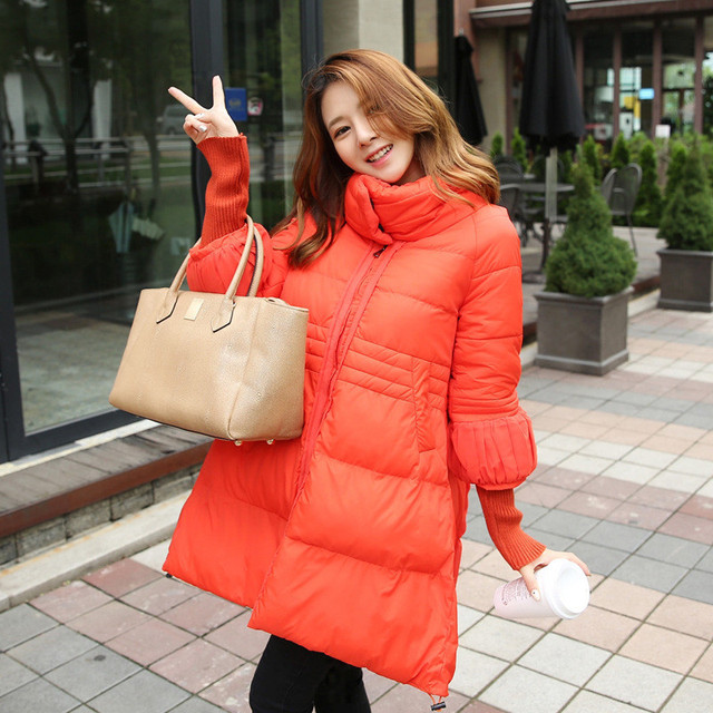 Rib Sleeve Winter New Jacket Women Temperament Big Swing Wadded Cotton Jackets Female Cape Types Coat Loose Casual Parka C1142