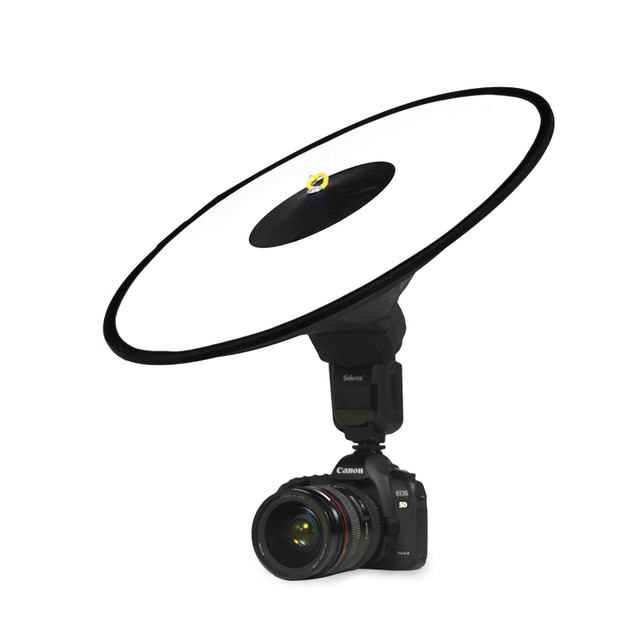 """16.7""""/42cm Collapsible Beauty Dish Flash Diffuser for Speedlite Studio Portrait Catchlights Lightweight Photographic Equipments"""