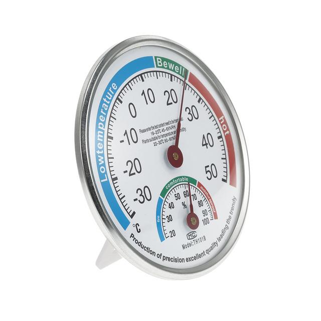 Thermometer Hygrometer Indoor Outdoor Humidity Household Weather Dial Thermometer Hygrometer Monitor Meter Office StoreRoom Tool