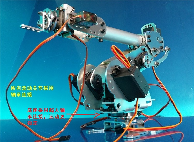 Mechanical Arm Abb Industrial Robot Model Mechanical Arm Six-axis Robot ,100% Alloy Manipulator Robot Arm Rack with 6 Servos 6 degrees of freedom manipulator robot manipulator six axis robot industrial robot model