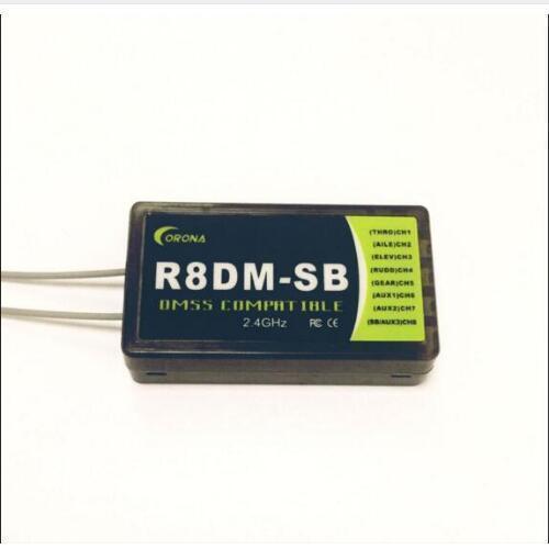 كورونا R8DM SB 2.4G 8CH أنظمة إدارة الوجهات السياحية استقبال متوافق مع S. Bus دعم JR أنظمة إدارة الوجهات السياحية XG6