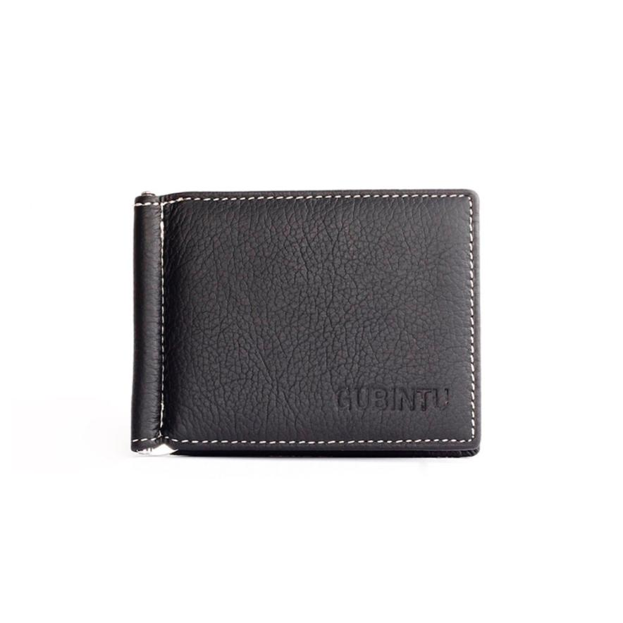 Hot sale 2016 Men Wallet Short Skin Wallets Purses Fashion Synthetic Leather Money Clips Sollid Thin Wallets carteras mujer canon c exv33 black