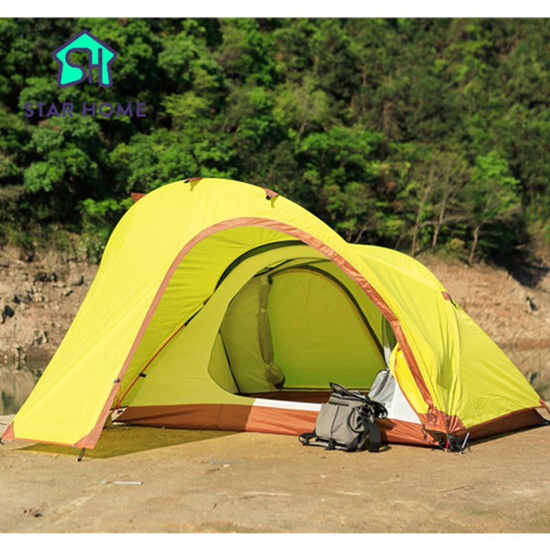 Star Home Cmping Tent Professional Ultralight 1-2 Person Aluminum Pole Top Grade Hiking Camping Tent With Bicycle Storage high quality outdoor 2 person camping tent double layer aluminum rod ultralight tent with snow skirt oneroad windsnow 2 plus