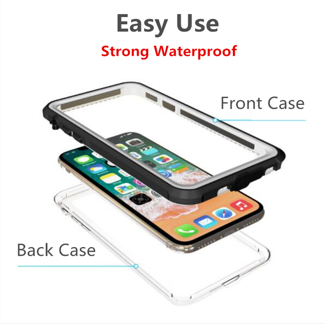 Waterproof Case Swimming Diving Surfing Watertight Cover for Apple X