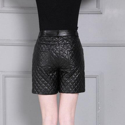 Haute Taille K18 Cuir Épais Short En Hiver Mince wq6ApzxP