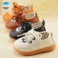 2017 от 0 до 24 месяцев детская обувь мальчиков и девочек кожа обувь новорожденных малышей обувь мягкое дно шнуровке детская обувь высокого качества