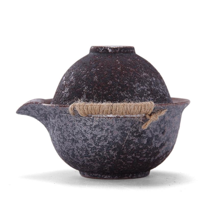 PINNY Rust Glaze Surové keramiky přenosné čajové sady Keramické Cestování Kung Fu TeaPot 1 hrnce 1 pohár Vintage Tea Cup čaj konvice