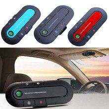 Bluetooth Car V3.0 Wireless Speaker Phone Slim Magnetic Hand Free In Car Kit Visor Clip High Quality Bluetooth Car Kit 3 Colors