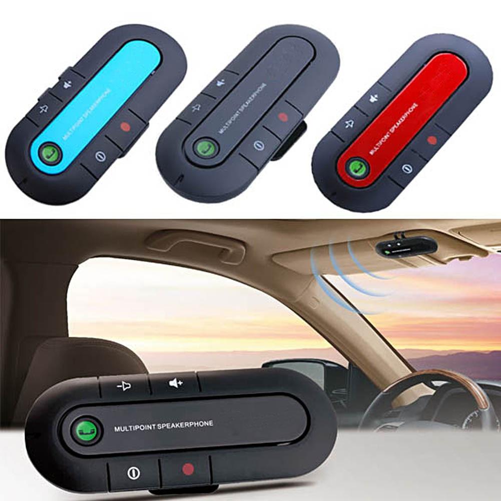 Coche Bluetooth V3.0 altavoz inalámbrico teléfono Slim mano magnética libre en Kit de coche visera Clip de alta calidad Bluetooth Kit de coche 3 colores