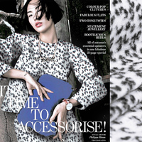 Fashion Black and White Leopard Print Fabric Knitted Woolen Overcoat Clothes