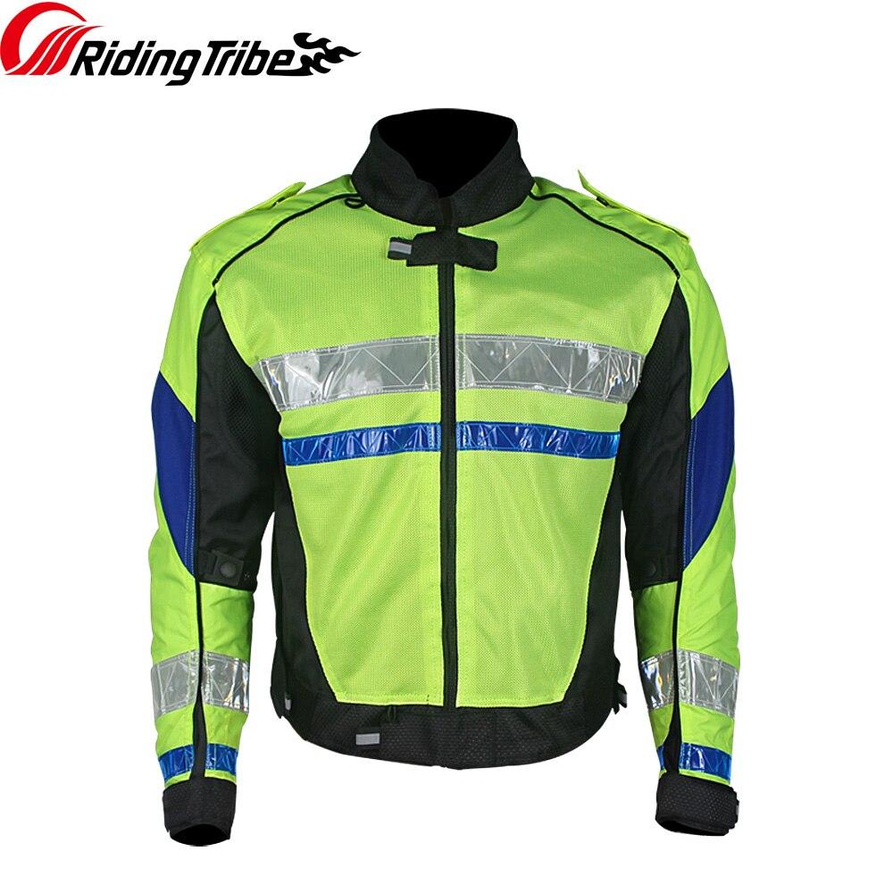 Riding Tribe Motorcycle Reflective Jacket Summer Breathable Motorbike Off-Road Clothing Moto Racing Protective Coat JK-29 цена