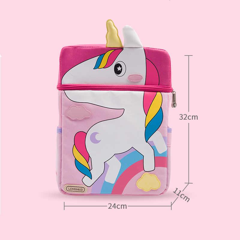 Mochila escolar de animales de dibujos animados para niñas, mochila ortopédica para niños y niños