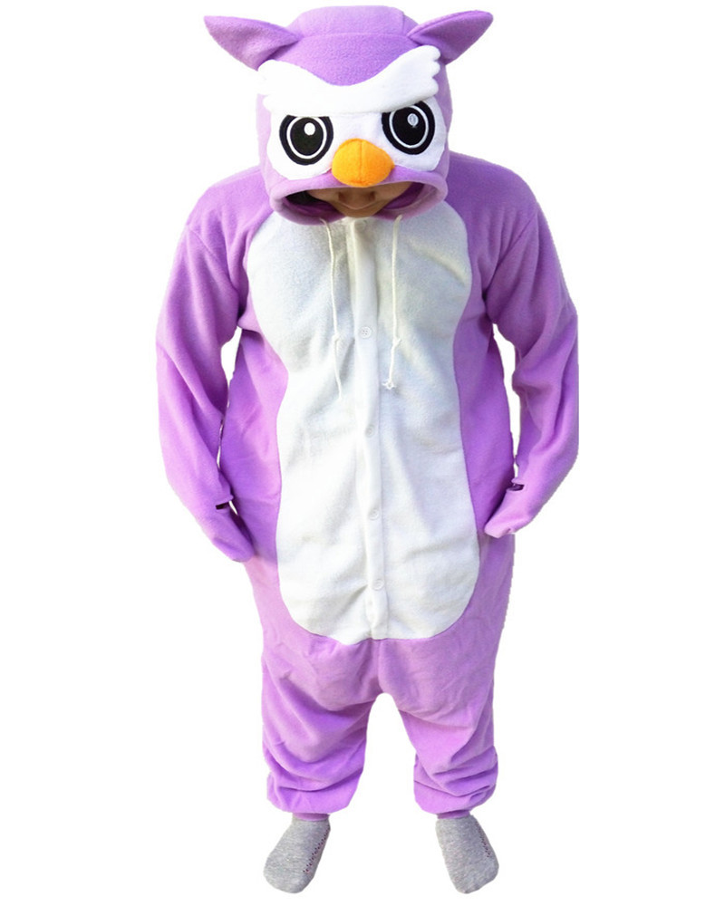 Purple Owl Cute Onesie Cosplay Romper Girls Jumpsuit Pyjamas Nightgowns Women Sleepwear Long Sleeve Size Chinese Market Online