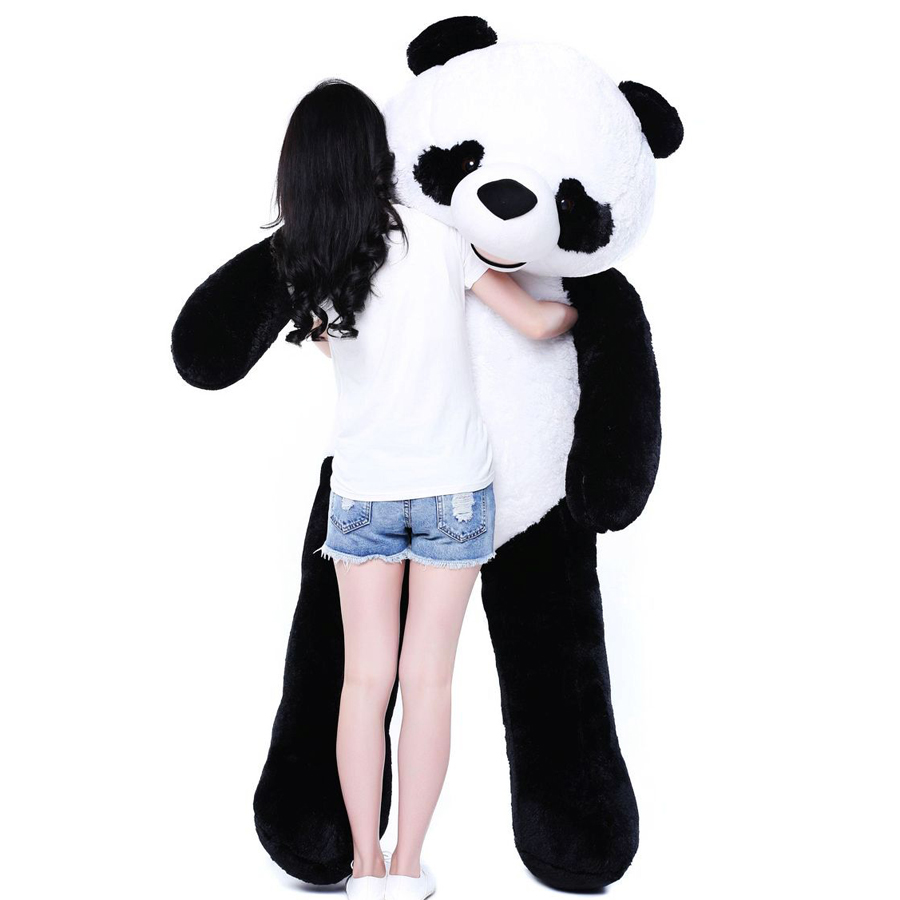 Panda Soft Toys Plush Animals Large Stuffed Giant Doll Brinquedos Menina Birthday Gifts Peluche Gigante Pillow Dolls 50G0238 2018 huge giant plush bed kawaii bear pillow stuffed monkey frog toys frog peluche gigante peluches de animales gigantes 50t0424