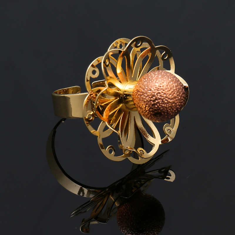 Dubai Gold Schmuck Sets Nigerianischen Hochzeits Afrikanische Perlen Kristall Brautschmuck Set 2018 Geometrische Farbe Gold Schmuck Set