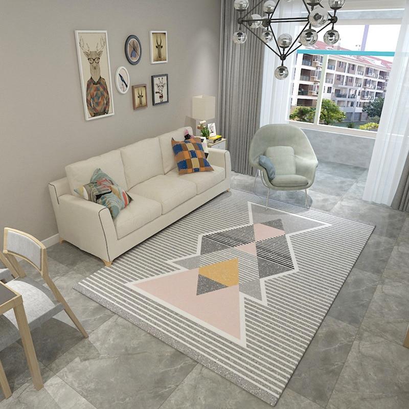 Tapis simples pour salon géométrique abstrait grand tapis antidérapant tapis enfants chambre décor à la maison chambre Rectangle tapis