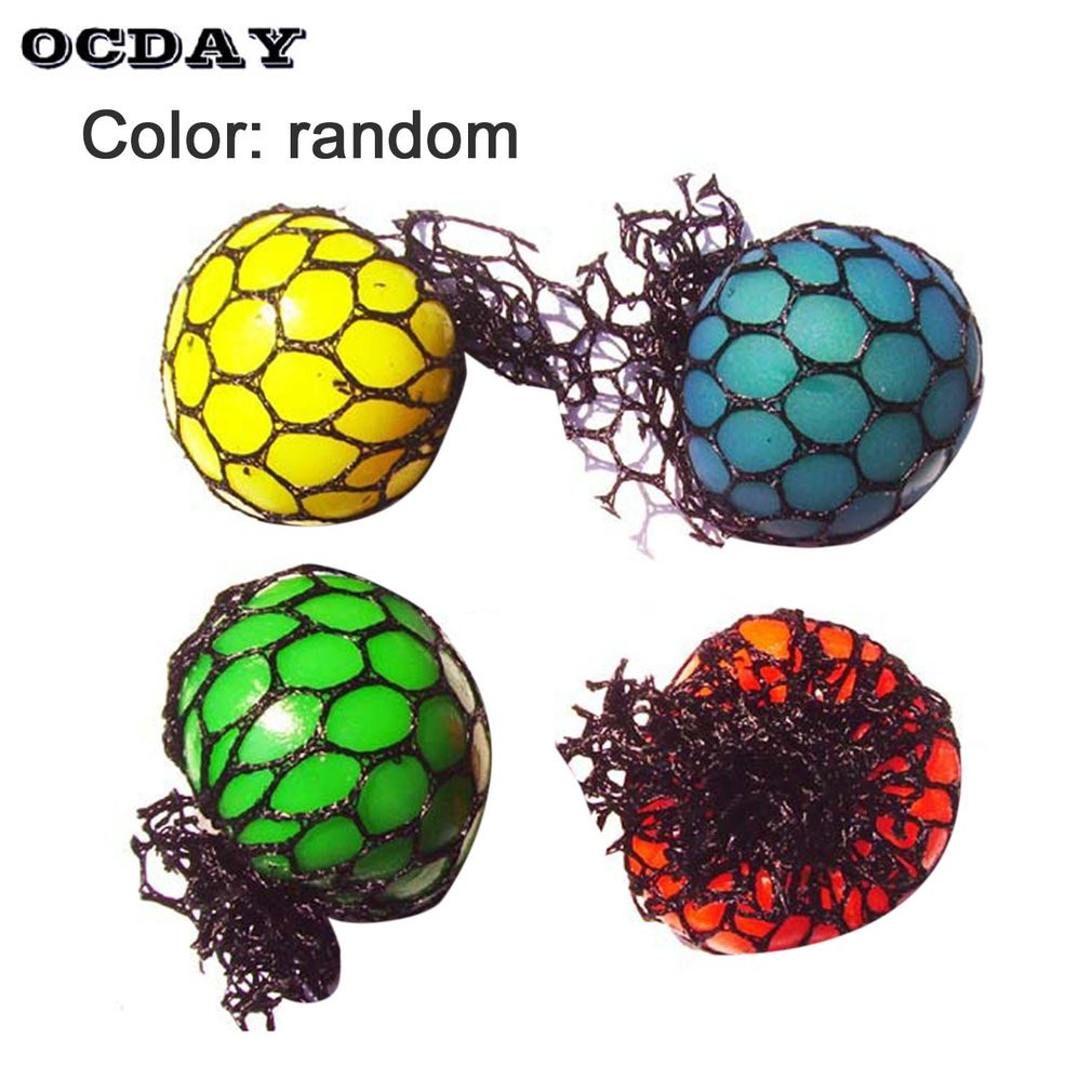 OCDAY Fun Splat Grape Venting Balls Squeeze Stresses Reliever Toy New Anti Stress Ball Novelty Funny Gadgets Gift Ball Toys 2018