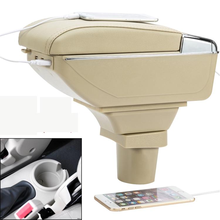 Car Armrest Central Storage Box with USB For chevrolet lova aveo Nexia Daewoo Gentra 2005 2006 2007 2008 2009 2010 2011