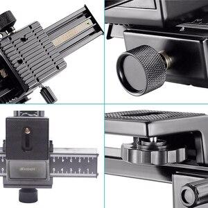 Image 3 - Schieten 4 Way Macro Focusing Rail Slider Voor Canon Sony Nikon Pentax Close Up Opnamen Statief Hoofd Met 1/4 schroef Voor Dslr Camera