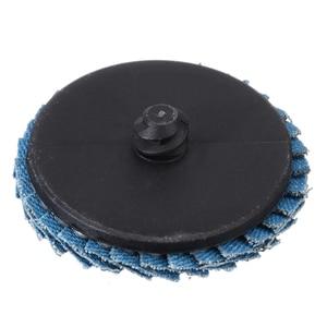 "Image 5 - 10pcs/Set 2""/50mm Lug Sanding Grinding Wheel 60 Grit Flap Type R Roloc Disc Wheels Wood Metal Plastic Abrasive Tool"