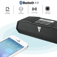 Bluetooth 4.0 Wireless Speaker 3D Stereo Sound Bass Lossless Effect 5200mAh Built in Mic 3.5mm Audio Port 10 h Playback Time