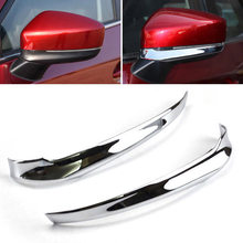 ABS Plastic Cover Replacement Car 2pcs Kit Set Chrome Rearview Side Mirror 2017-2018 Useful Durable New(China)